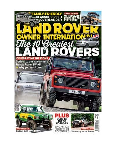 Land Rover Owner issue October 2019