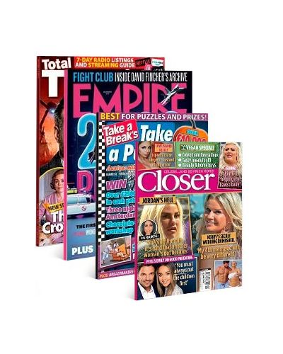 Empire, Total TV Guide England, Closer & Take a Puzzle Print Subscription Pack