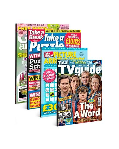 Total TV Guide England, Garden Answers, Take a Puzzle & Picture Arrowwords Print Subscription Pack