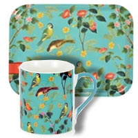 Free Mugs and Tray with Bird Watching